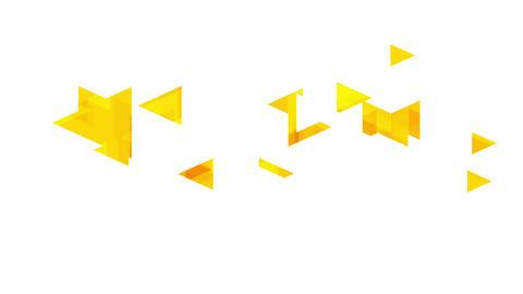 Tech minimal video animation with orange triangles Animation
