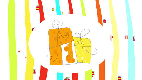 creative ideas for gift boxes for christmas tradition or happy birthday celebration decorated with a Animation