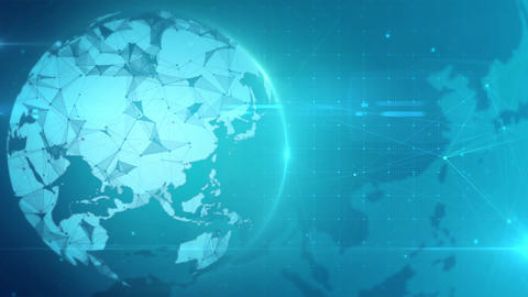 Global Technology Background Animation