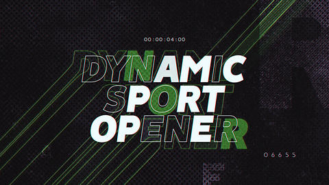 Dynamic Sport Opener After Effectsテンプレート