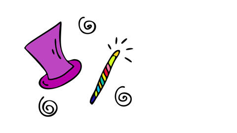 birthday party invitation for kid that loves magic and dreams to become a magician with a magical Animation