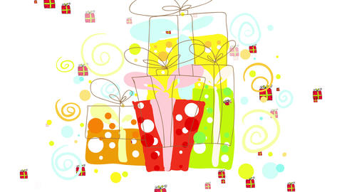 group of big surprising gift boxes creating excitement and anticipation put aside suggesting they Animation