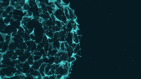 Abstract plexus sphere background Animation