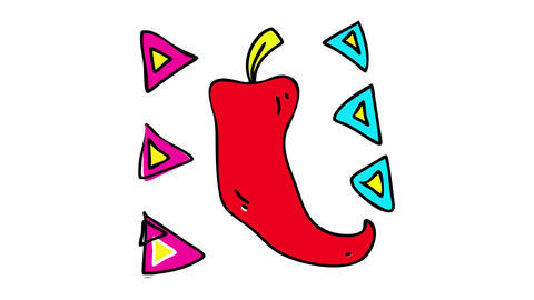red ripe chili pepper perfect to cook special hot sauce for people that love to spice up their food Animation