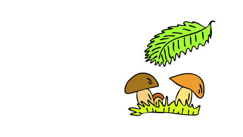 little brown helmet mushrooms with poisonous properties growing on a humid climate area with cold Animation