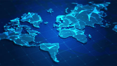 World map digital concept background Animation