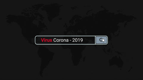 Virus Corona-2019 Search Engine Online Concept Animation