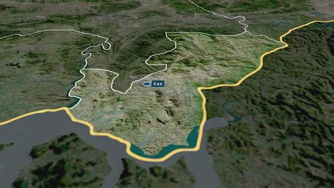 Kaesong - special administrative region of North-Korea. Satellite Animation