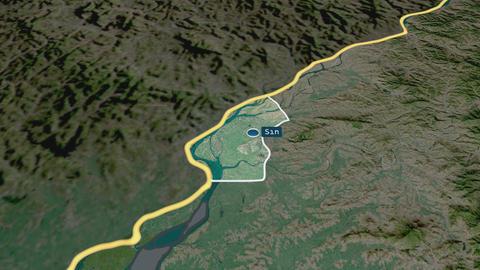 Sinuiju - special administrative region of North-Korea. Satellite Animation