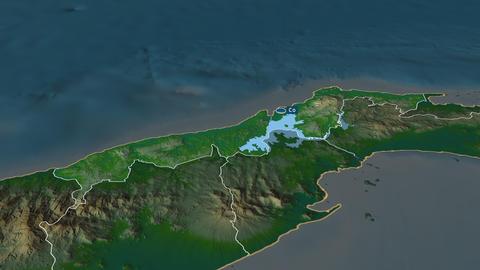 Colón - province of Panama. Physical Animation