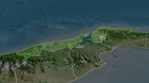 Colón - province of Panama. Satellite Animation
