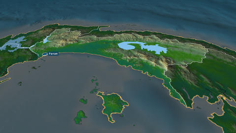 Panamá - province of Panama. Physical Animation