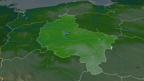 Greater Poland - voivodeship of Poland. Physical Animation