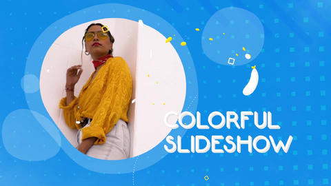 Colorful Liquid Slideshow After Effects Template