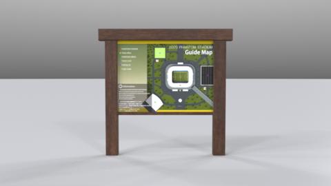 Signboard01 Modelo 3D
