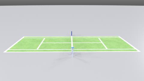 Tennis court01 Modelo 3D