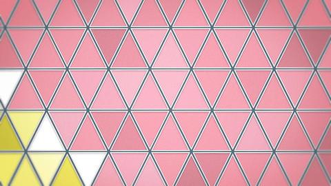 三角モザイクタイル - マカロンカラー 動画素材, ムービー映像素材
