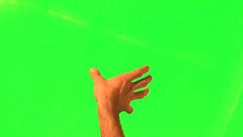 Touchscreen gestures - male hand - green screen and alpha matte Footage