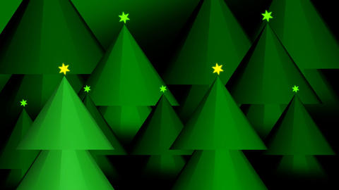 Christmas Trees 3D Animation