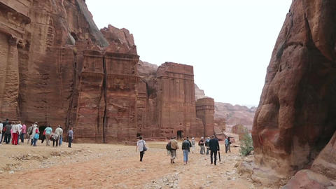 View of the city of Petra in Jordan Footage