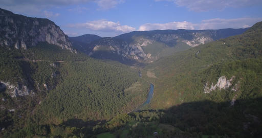 Aerial, Tara River Canyon, Montenegro - Native Material, straight out of the cam Footage