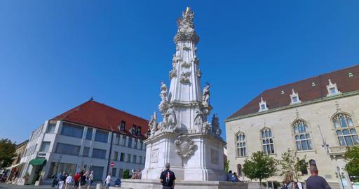 Budapest, Hungary. Circa September 2016. Holy Trinity column outside of Matthias Footage