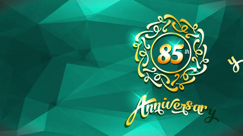 special 85th celebrating anniversary reception postcard for a super beloved person with stylish part Animation