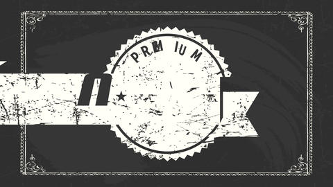 stars on vintage branding for premium quality product drawn on a black chalkboard selling industrial Animation