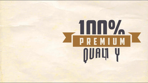 100 percentage premium quality product transfer advertisement for store or merchandise business Animation