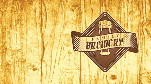 work brew group brewery deal branding with scratched antique elements on timber texture for retail Animation