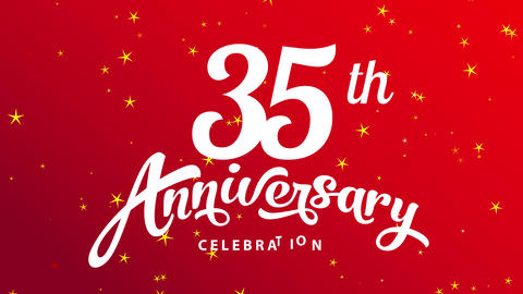 35 years celebrating occasion festivity announcement towards meet teamwork and collaboration for Animation