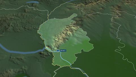 Bratislavský - region of Slovakia. Physical Animation