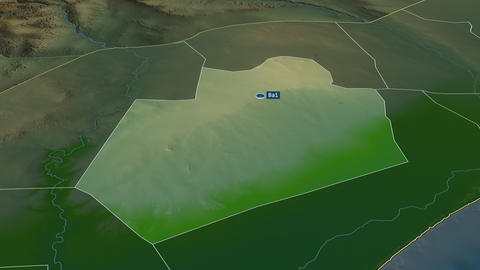 Bay - region of Somalia. Physical Animation