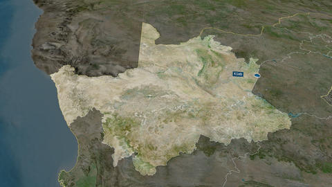 Northern Cape - province of South-Africa. Satellite Animation