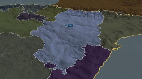 Aragón - autonomous community of Spain. Administrative Animation