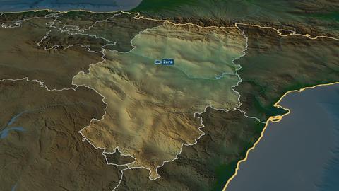 Aragón - autonomous community of Spain. Physical Animation