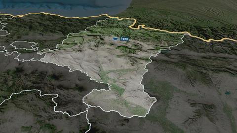 Comunidad Foral de Navarra - autonomous community of Spain. Satellite Animation