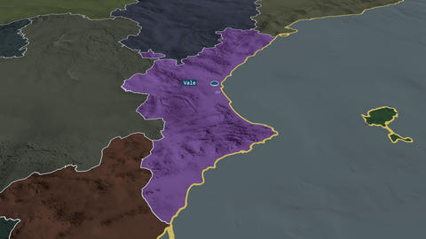 Comunidad Valenciana - autonomous community of Spain. Administrative Animation