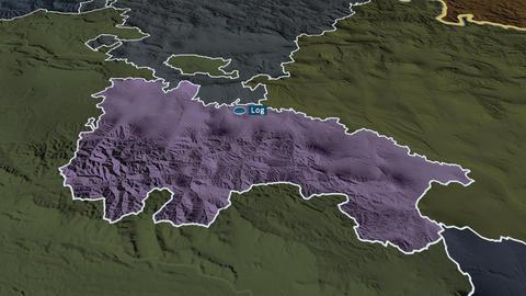 La Rioja - autonomous community of Spain. Administrative Animation