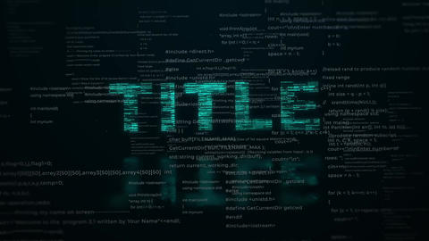 Digital Code Title Motion Graphics Template