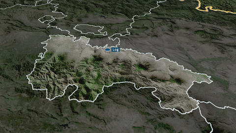 La Rioja - autonomous community of Spain. Satellite Animation