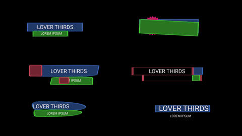 Lower Thirds Plantillas de Motion Graphics