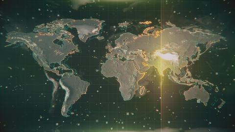 Australia Map Blue Radar 4K Animation