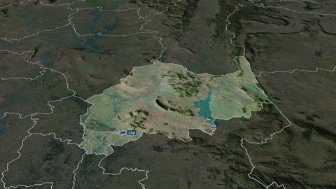 Lop Buri - province of Thailand. Satellite Animation