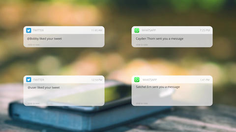 Social Media Messages Apple Motion Template