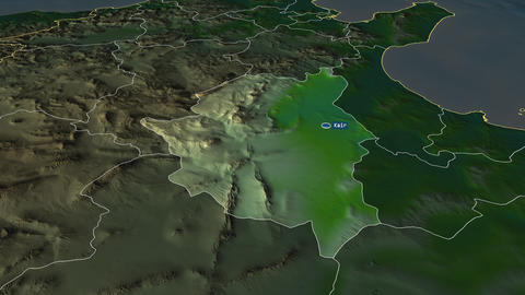 Kairouan - governorate of Tunisia. Physical Animation