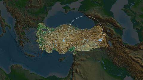 Artvin - province of Turkey. Physical Animation