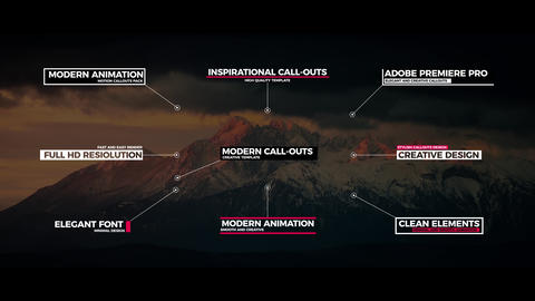 Modern Call-Outs Premiere Pro Template