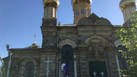 Church of St George, shot from the bottom up Footage