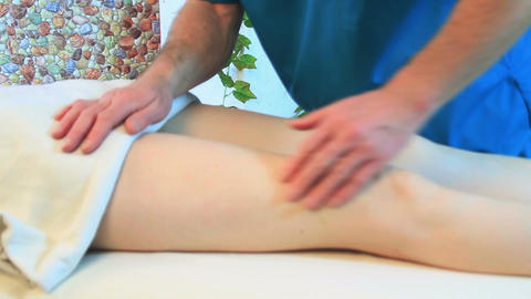 Leg massage Footage